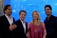 BB cast members Thorsten Kaye, Katherine Kelly Lang and Don Diamont with writer Brad Bell are Filming in Dubai and Abu Dhabi Katherine Kelly, Soap Stars, Cast Member, Bold And The Beautiful, Be Bold, Abu Dhabi, Storytelling, Dubai, Bb