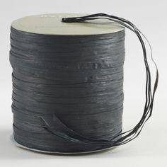 Black Raffia Multi-Tie Ribbon | World Market