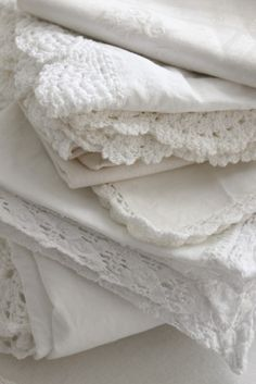 stack of yummy white linens
