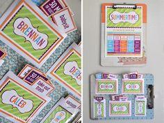 Super cute chore chart ideas/summer activity ideas -Ivory Bloom