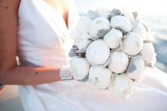 Bouquet of white peonies with silver would be pretty for a winter wedding. White Wedding Flowers, Bridal Flowers, Unique Flowers, White Flowers, Wedding Flower Arrangements, Wedding Bouquets, White Peonies Bouquet, Pink Peonies, Wedding Inspiration