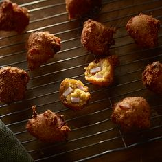 Canadian Bacon-Beer-Cheese Fritters