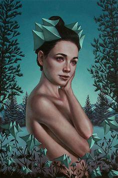 Artist: Casey Weldon {contemporary #surreal art female torso young woman painting} caseyweldon.com