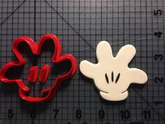 Mickey Mouse Glove Cookie Cutter Set by JBCookieCutters.com                                                                                                                                                                                 More