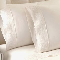 Refresh your master suite or guest room with this feminine white sheet set, crafted of Egyptian cotton and showcasing intricate embroidered details. $30.95
