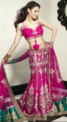 Mesmerizing Pink Lehenga Choli Indian wedding outfit