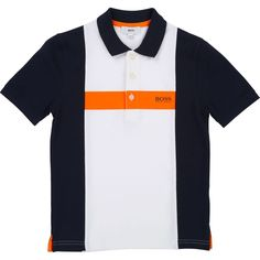 Polo Manches Courtes - Taille : 10 ans;12 ans;14 ans;16 ans;4 ans;5 ans;6 ans;8 ans Polo T Shirt Design, Polo Shirt Style, Striped Polo Shirt, Polo T Shirts, Top T Shirt Brands, Hugo Boss, Le Polo, Pulls, Ready To Wear