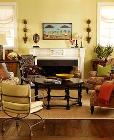 Fall Color Schemes for Homes | ... Home Decorated to Feel Like a Tropical Retreat - Traditional Home