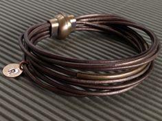 Personalized Bronze Multi Strand Leather by urbantribejewelry, $36.00