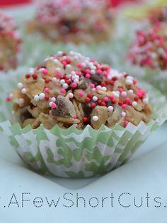 No Bake Energy Bites #Recipe #glutenfree via AFewShortCuts.com