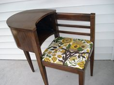 Vintage telephone tables vintage telephone table vintage telephone table awesome antique phone coho within vintage telephone table with seat vintage Vintage Telephone Table, Telephone Seat, Gossip Bench, Antique Phone, Upcycled Furniture, Refurbished Furniture, Furniture Projects, Antique Furniture, Vintage Floral Fabric