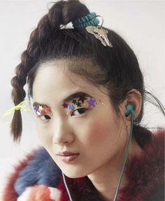 Shin Hyun Ji by Roe Ethridge for Le Monde M Magazine Charlotte, Korean Model, Fashion Editor, Fashion Photography, Magazine, Make Up, Hair Styles, Face, Earrings