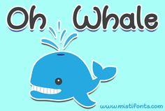 Oh Whale - Creative Fabrica