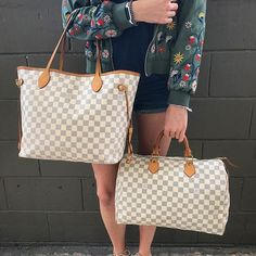 JUST IN! Louis Vuitton Damier Azur Neverfull MM & Speedy 35! Call/text us at 813-382-9491 if you would like to purchase before they go online!