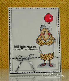 Art Impressions Ai People 29 Again? set.  Handmade birthday card.