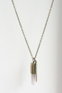 Pale Feathers of Pink... Rose Quartz Bullet by thegoldentooth, $32.00