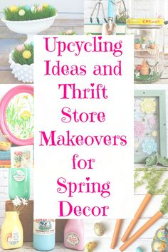 Whether you want to create some Spring decor or Easter decorations the thrift store is a great place to start! Recycled Crafts, Craft Projects, Recycling Projects, Project Ideas, Easter Crafts, Easter Ideas, Spring Crafts, Creative Crafts, Diy Crafts To Sell