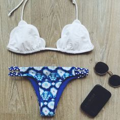 9a1535299411 Aliexpress.com: Compre Onda trangel sexy halter top branco azul swimwear  imprimir conjunto bikini brasileiro swimsuit novo estilo strapless verão  maiô 21 de ...