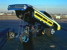 A nostalgic look back at drag racing funny cars from the Funny Car Drag Racing, Nhra Drag Racing, Funny Cars, Funny Looking Cars, Vintage Race Car, Drag Cars, Vintage Humor, Car Humor, Big Trucks