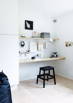 IKEA& Bekvam stool is terrific as a low step stool, but there are so many more ways and places to use it around the house. Let& take a look at 12 ideas. Bekvam Ikea, Bekvam Stool, Ikea Kura, Ikea Step Stool, Creative Office Space, Small Office, Study Nook, My New Room, Home Renovation