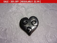 Excited to share the latest addition to my #etsy shop: Vintage enamel heart brooch, estate brooch, lapel pin, coat pin http://etsy.me/2EgKDAa #jewelry #brooch #estatejewelry #jewelrybrooch #vintagejewelry #vintagebrooch #estatebrooch #heart #enamelheart