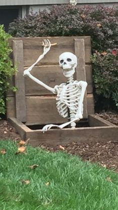 The original Pose-N-Stay skeleton by Seasons. A fun decorative halloween decoration Outdoor Halloween, Halloween Fun, Halloween Decorations, Halloween Labels, Vintage Halloween, Halloween Makeup, Halloween Costumes, Reaction Pictures, Funny Pictures