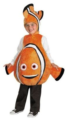 Nemo Disney Costume - This cute Halloween Costume shouldn't be hard to find! Finding Nemo Disney Boys Costume Deluxe includes a orange, white, and black. Up Costumes, Toddler Costumes, Animal Costumes, Disney Costumes, Costume Ideas, Pixar Costume, Cartoon Costumes, Children Costumes, Disney Halloween