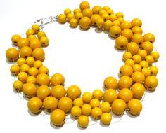yellow jewelry | Diana Bostany Beaded Jewelry, Handcrafted Jewelry - necklaces