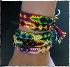 80's style friendship bracelets!  :)  Totally going to start making these again! LOL