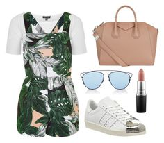 """Untitled #228"" by fweakydarcy on Polyvore featuring Topshop, adidas, MAC Cosmetics, Christian Dior and Givenchy"