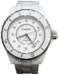Chanel J12 White Ceramic Diamond Womens Watch