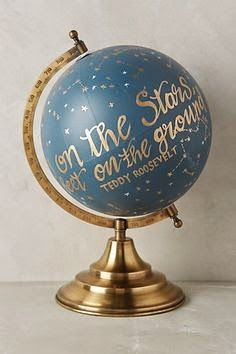 Decorating with style diy chalkboard globe diy chalkboard south shore decorating blog my hand painted globe knock off do it yourself project solutioingenieria Images