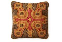 Persia 20x20 Jute-Blended Pillow, Red on OneKingsLane.com