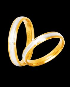 Βέρες δίχρωμες χρυσός & λευκόχρυσος 9Κ-14Κ-18Κ Bangles, Bracelets, Jewels, Gold, Jewelery, Bracelet, Gemstones, Jewelry, Jewerly