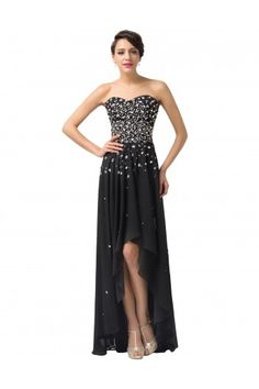 Grace Karin Strapless Chiffon Ball Gown Evening Prom Party Dress