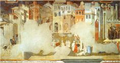 Ambrogio Lorenzetti, Good and Bad Government (1338) Sala dei Nove, Palazzo Publico, Siena
