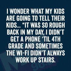 """Grandma, tell us again about LANDLINES."" #funny #backtothefuture http://pishposhbaby.com"
