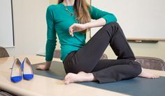 Finally, yoga pants for the office! Betabrand's Straight-Leg Dress Pant Yoga Pants, now in a dashing black color.