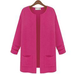 Punto de mujer de manga larga chaqueta de punto de lana chaqueta de la capa 4558