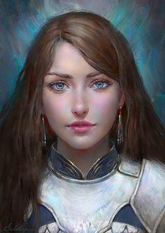 f Paladin Plate Armor portrait female Traveler Castle lg Medieval Girl, Medieval Princess, Fantasy Princess, Princess Art, Elven Princess, Fantasy Women, Fantasy Rpg, Fantasy Girl, Fantasy Portraits