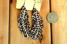 Excited to share this item from my shop: Leopard Cheetah Feather Earrings Feather Earrings, Drop Earrings, Cheetah Print, Buy And Sell, Clothes For Women, Handmade, Stuff To Buy, Etsy Shop, Jewelry