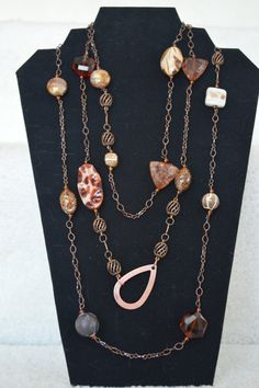 Brown Sugar Belt or Necklace by CynWear on Etsy, $24.99