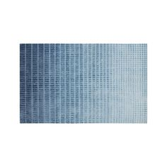 Blue Ombre 8x10' Viscose Rug + Reviews | Crate and Barrel