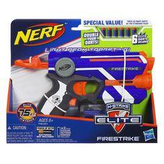 "Nerf N-Strike Elite Firestrike Blaster (Double Your Darts) - Hasbro - Toys ""R"" Us"