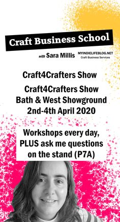 Would you like to earn some money from your creative hobby - or perhaps you already have a business that you'd like to create more sales from?  Come and visit the Craft Business School at Craft4Crafters this year and hear about the reality of starting and running a craft business and the steps you need to take to make that jump successfully.  #smallbusiness #etsyshop #etsyshopideas #etsy #craftbusiness #smallbusiness #etsytips #etsybusinessideas #craft4crafters #craftbusinesschool Craft Business, Business School, Business Ideas, Small Business Marketing, Online Business, What To Sell Online, Production Planning, Small Business Resources, Inventory Management