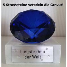 Glas-Pokal Blue Series mit Ihrer Wunschgravur Pokale & Preise
