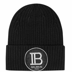 Update your winter collection with this B Beanie from Balmain. Crafted in a thick wool style, it features a folded cuff for a classic look, finished with a signature logo badge to the front. Men's Fashion Brands, Fashion News, Latest Fashion, Mens Fashion, Mens Designer Accessories, Balmain Collection, Balmain Men, Armani Logo, Signature Logo