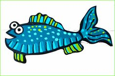funky fish art - Google Search