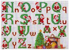 ♥Meus Gráficos De Ponto Cruz♥: Monogramas para o Natal em Ponto Cruz