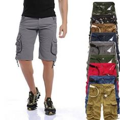 2016 Men's Summer Frock Multi-pocket Camouflage Shorts Five Pants - Brought to you by Avarsha.com